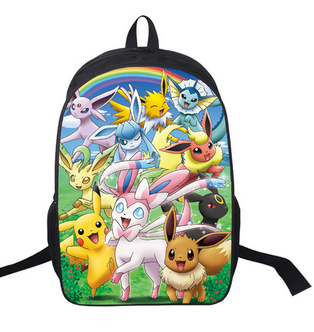 ... Children  check out 03d41 94afc 16 Inch Anime Pokemon Daily Backpack  Boys Girls School Bags Pikachu Backpack ... b977c99626