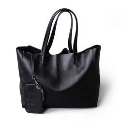 ¡Novedad de 2019! bolso de mano de lujo de piel de vaca auténtica para mujer, bolso de mano Simple y suave para mujer, bolso de compras resistente al agua de gran capacidad