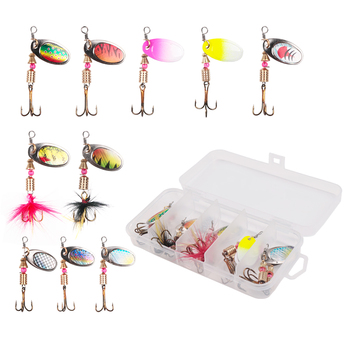 Amazing 10pcs/lot LUSHAZER fishing spoon lures spinner bait Fishing Lures cb5feb1b7314637725a2e7: 10pcs with box A|10pcs with box B|10pcs with box E|10pcs with box F|20pcs with box D