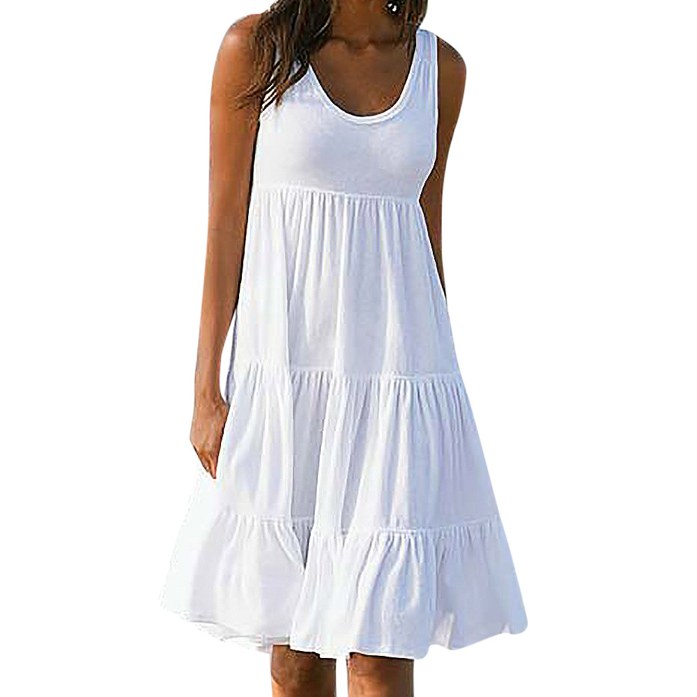 Womens Summer Dresses 2019 Summer White Cotton Mini Party ...