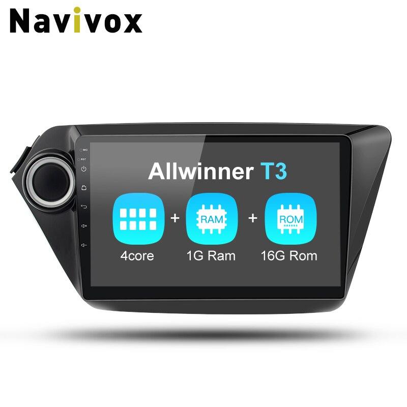 Navivox 2din Android7.1 Car Stereo Audio Navigation GPS Player For KIA K2 Rio 2010-2015 Wifi/BT/3G/4G/SWC (no dvd) navivox android7 1 8 1 universal gps navigation radio stereo audio player for nissan for hyundai rds swc bt wifi no dvd