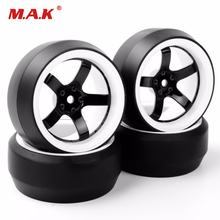 1/10 scale RC car tires tyre and wheels model fit for 1/10 o