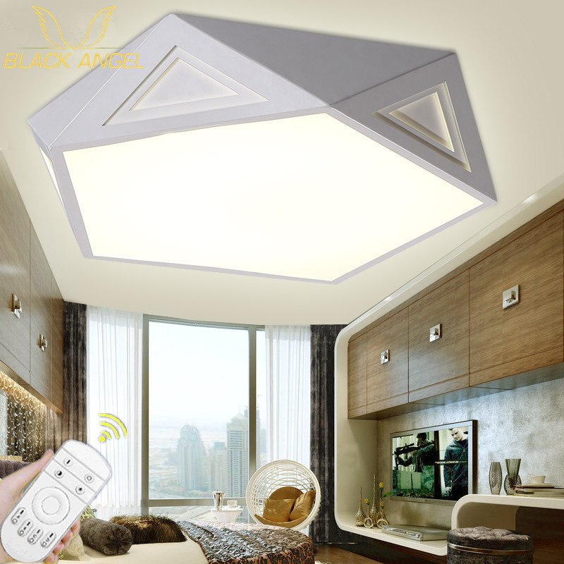 modern led ceiling lights for living room bedroom flush mount ceiling light lamparas de techo lamp decoration lighting light hexagon stamp mould die set punch for the single punch tablet press machine free shipping