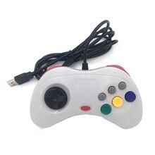 Controle de jogos usb com fio, joypad clássico, gamepad, controle para o sistema saturn, estilo para pc, para sega