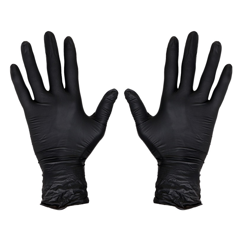 Top Quality Latex Glove Authorized Black Disposable