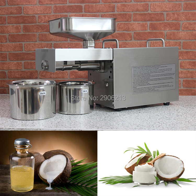 Acero inoxidable automático aceite de coco en casa máquina de la prensa de aceite de coco, Coco fría máquina de la prensa de aceite