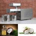 Rvs automatische thuis kokosolie persmachine voor kokosolie, koude kokosolie persmachine