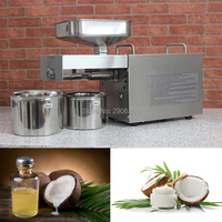 Stainless steel automatic home coconut oil press machine for coconut oil, cold coconut oil press machine