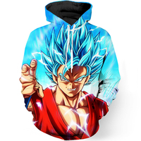 Anime 3D Hooded Sweatshirt Men Dragon Ball Z Super Saiyan Printed Mens Hoodies And Sweatshirts Hip