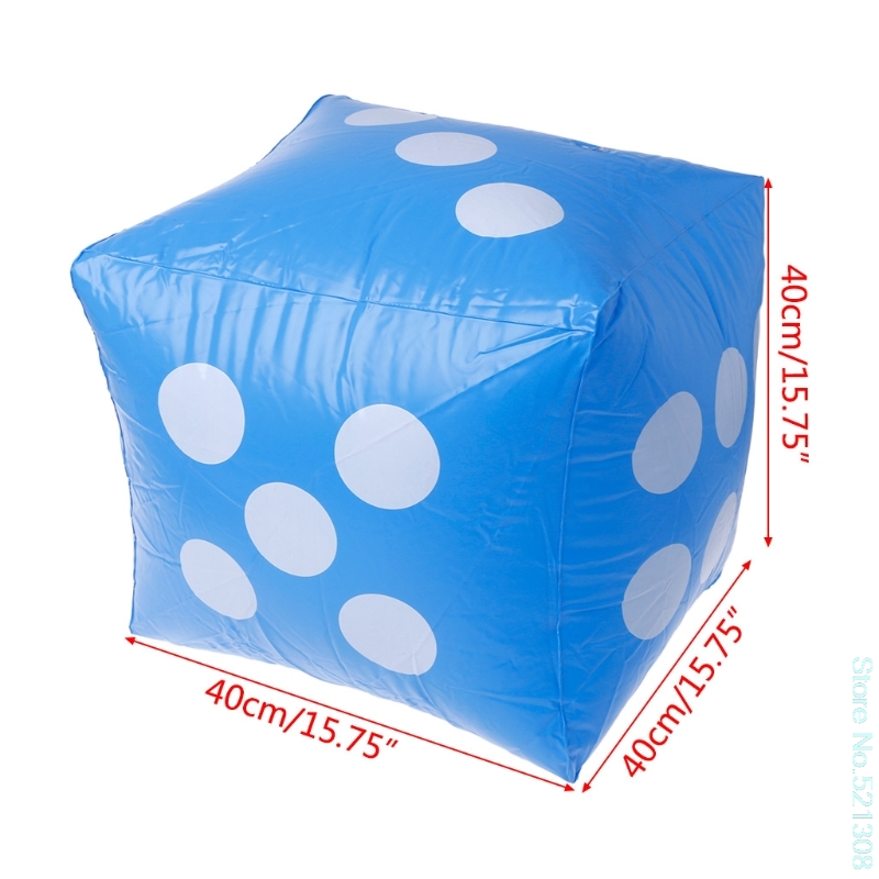 Inflatable 30X30cm Giant Cube Dice Casino Poker Outdoor Beach Party Bar S