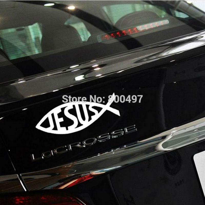 Us 879 12 Off10 X Neue Auto Styling Kreative Christentum Jesus Form Von Fisch Aufkleber Auto Dekoration Aufkleber Ganzen Körper Scratch