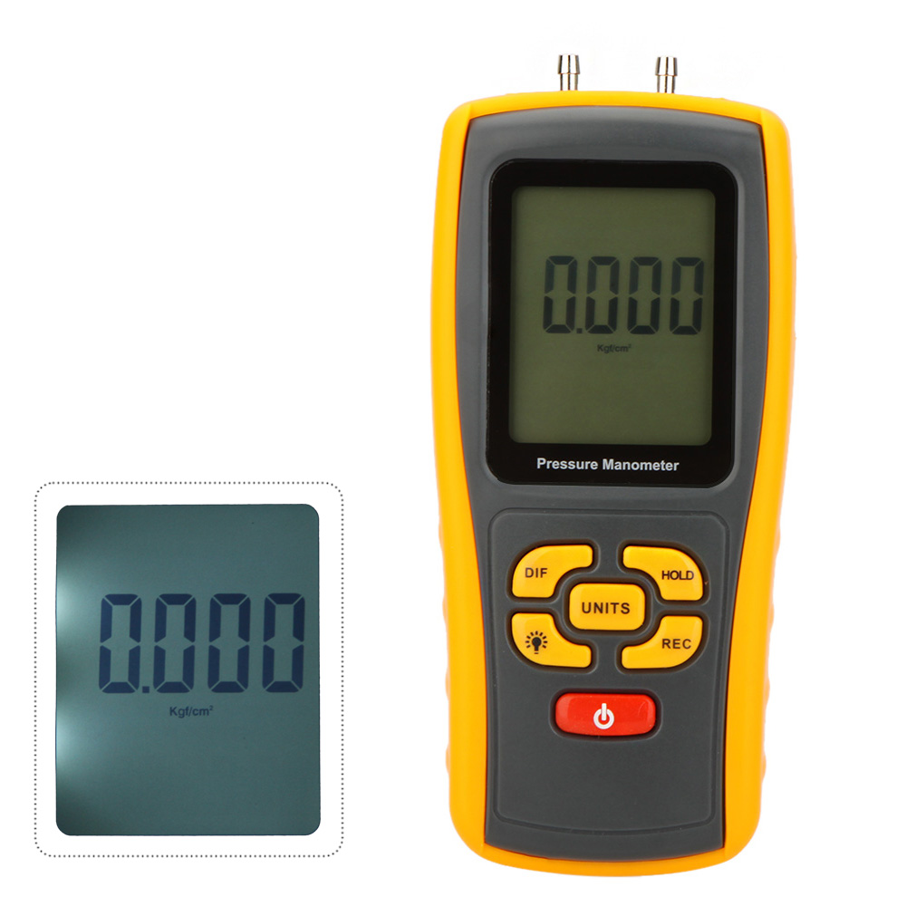 GM510 USB Digital pressure gauge LCD Pressure Manometer Gauge Portable Differential Pressure Manometer Measuring Range 10kPa benetech gm510 2 6 lcd handheld pressure manometer orange black 4 x aaa