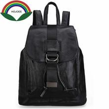 Рюкзак женский из натуральной кожи рюкзаки в Женская свободного покроя брендовые дизайнерские женские сумки для ноутбуков из натуральной коровьей кожи школьная сумка