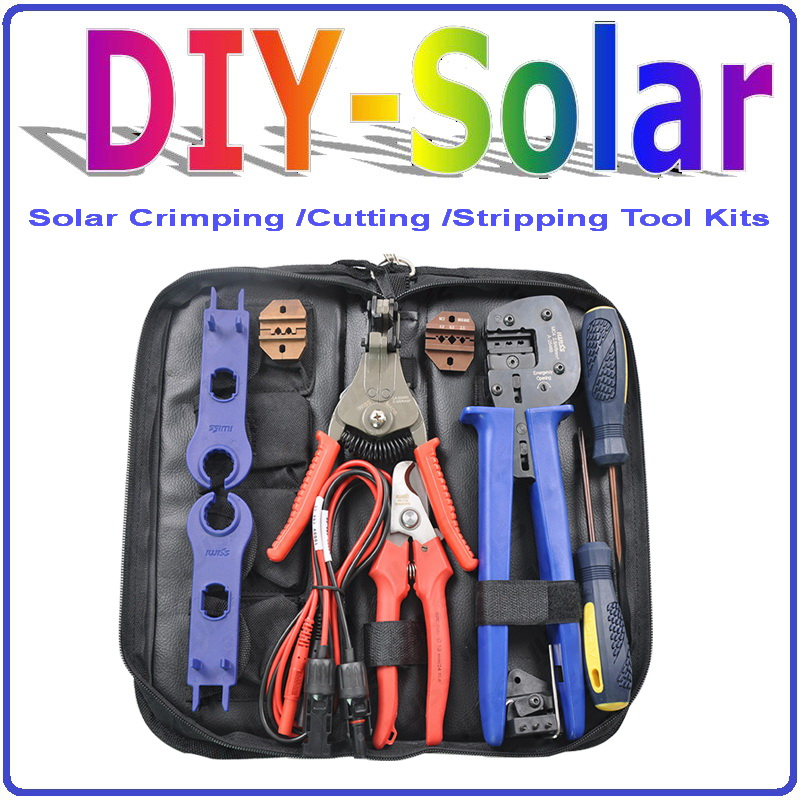 Crimping/Cutting/Stripping for Solar PV Tool Kits,Solar Crimping Tools / Solar PV Tool Kits for MC3/MC4 Connector with Crimping pro skit 8pk 313b 5 in 1 wire bolt cutter crimping stripping tool yellow black