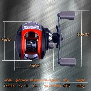 Image 5 - YUYU Baitcasting moulinet de pêche métal bobine frein 6 kg haute vitesse 7.2: 1 leurre bobine 14 + 1BB magnétique frein appât moulage bobine