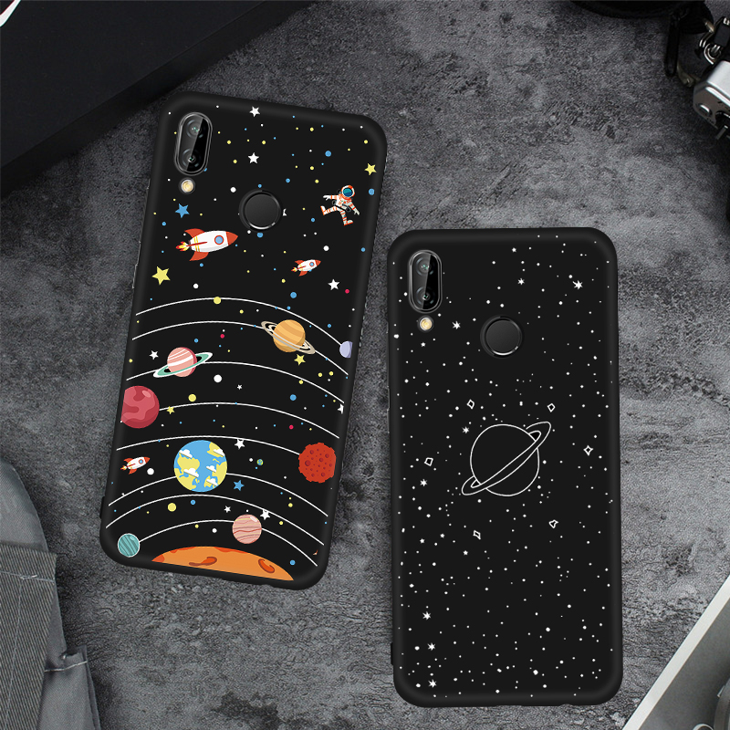 , Phone Case For Huawei Nova 3 3E 3i Silicone Black Mattte Pattern TPU Case Cover For Huawei Nova 3i 2i Fundas Capa