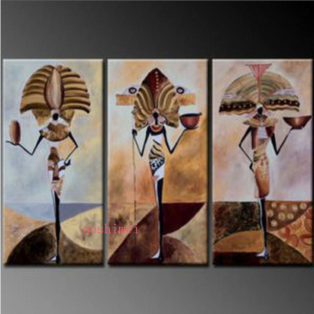 handmade abstract egypt character oil painting on canvas wall