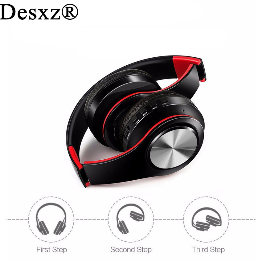Desxz HIFI stereo earphones Wireless bluetooth headphone music headset FM with mic for mobile xiaomi iphone sumsamg tablet rock y10 stereo headphone earphone microphone stereo bass wired headset for music computer game with mic