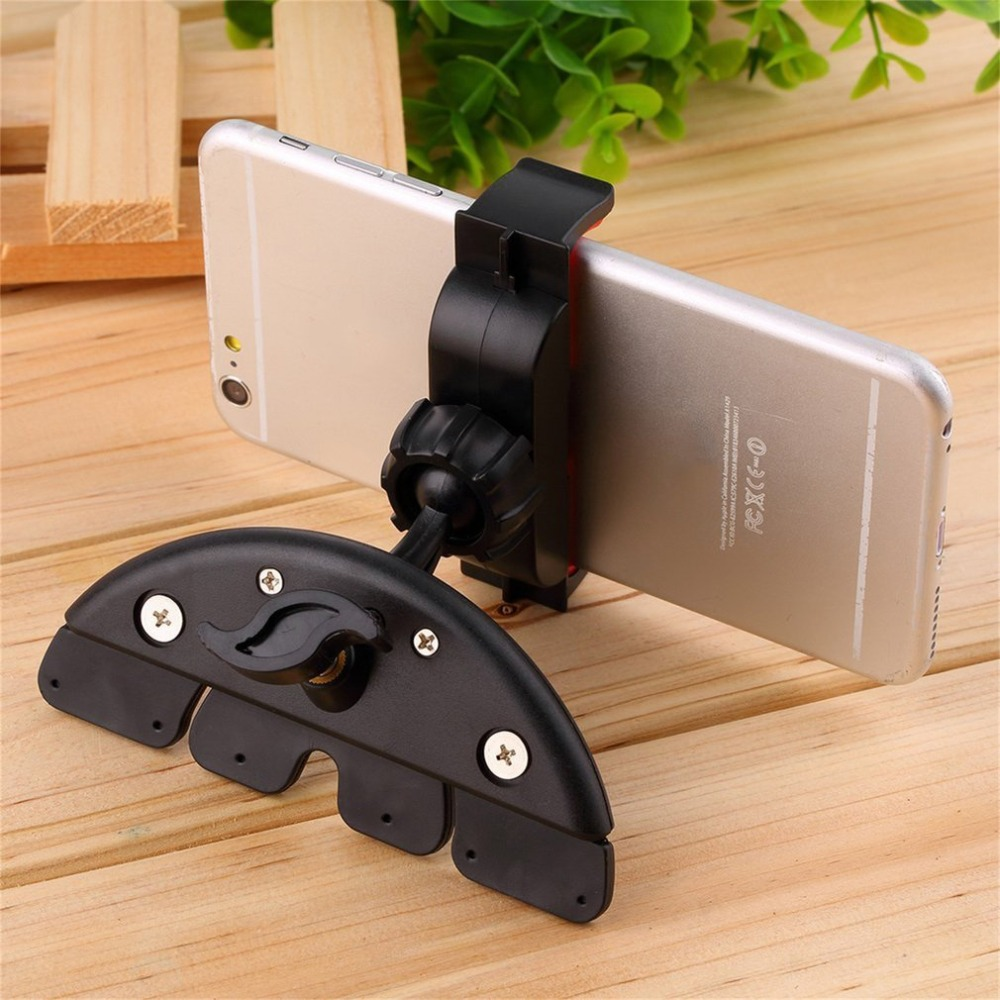 Universal CD Slot Holder 360 Degree Rotation Car Mount Phone Holder CD Slot For IPhone X 8 7 6 Plus Samsung S8 S9 Holder Stand