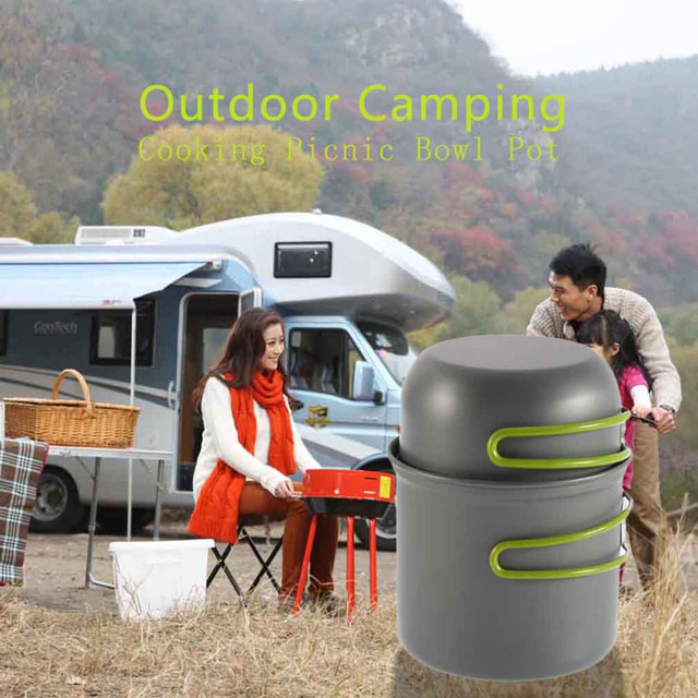 Aluminum Alloy Folding Handles Cookware Outdoor Pan Camping Hiking Backpacking Cooking Picnic Bowl Pot Dropshipping Freeshipping