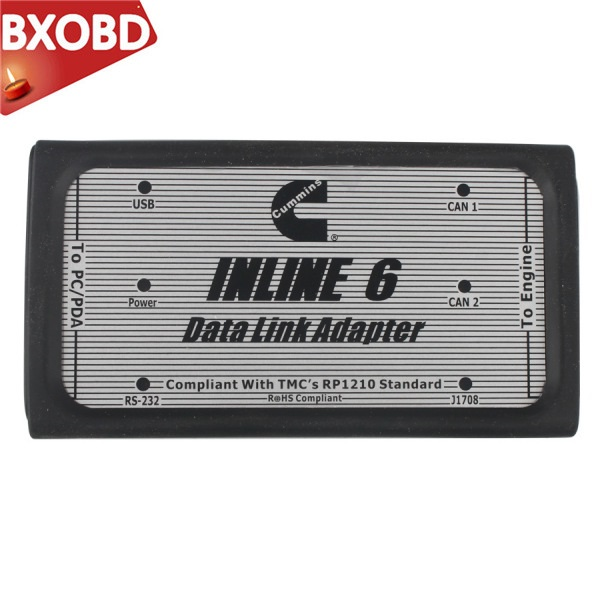 US $205 99 10% OFF|INLINE 6 Data Link Adapter for Cummins Truck Scanner  Heavy Duty Insite v7 62 Data Link Adapter Diesel Truck Diagnostic Tool-in