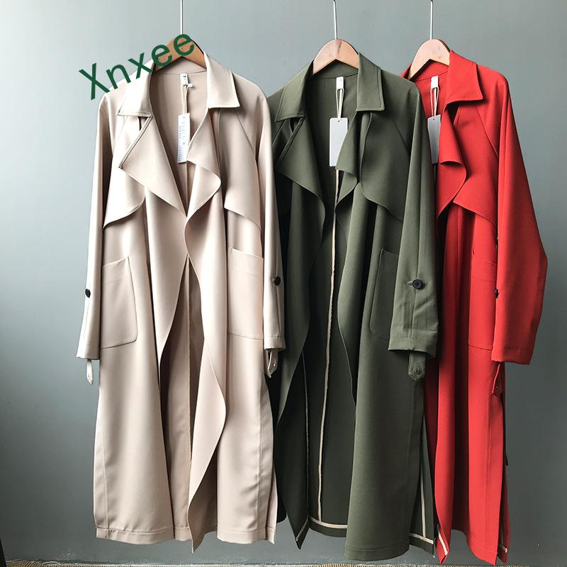 Xnxee   trench   coat women 2019 new spring autumn fashion long outwear female casual   trench   coat for women with belt coat