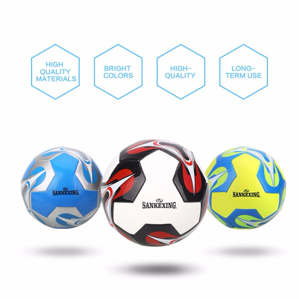 SANKEXING TPU Professional Soccer Ball Official Size 5 Football Goal League Ball Outdoor ...