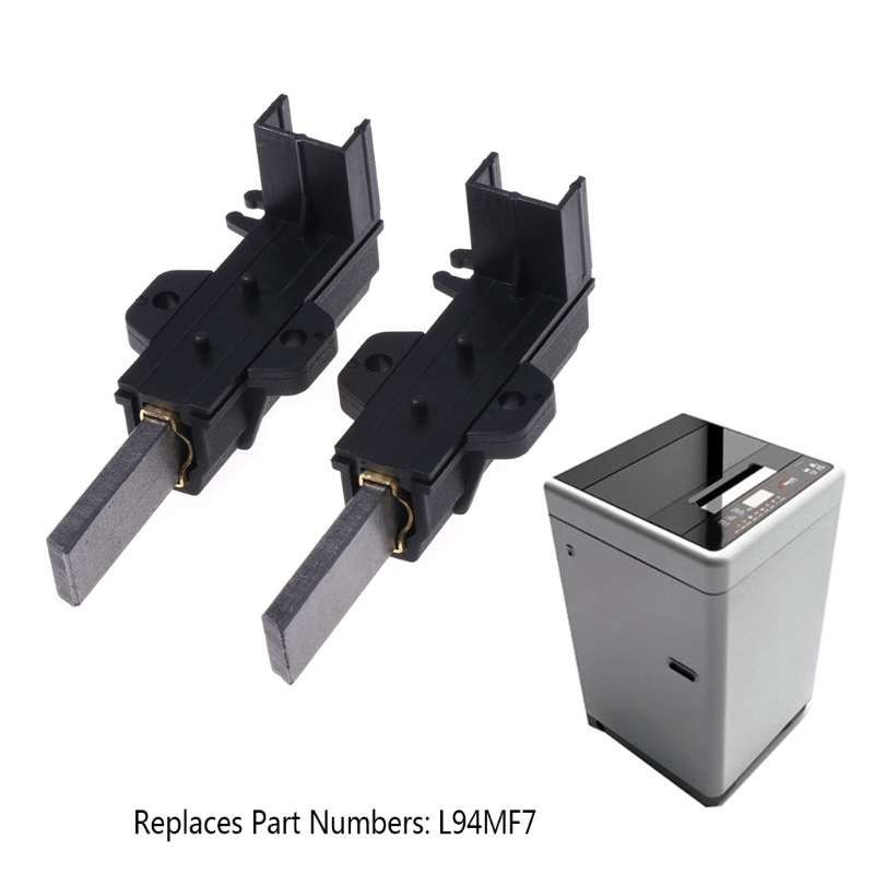 2Pcs/set Washing Machine Motor Carbon Brushes L94MF7 With Housing For Whirlpool