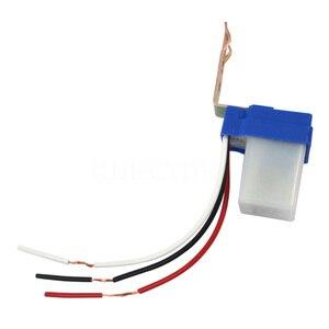 Image 4 - Kebidumei חם תא פוטואלקטרי רחוב אור Photoswitch חיישן AC DC 220 V 10A אוטומטי על Off חיישן מתג לבן וכחול