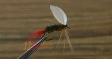 MNFT 10PCS 10# Red Tail May Fly Nymph Pheasant Herl Winged May Fly Trout Perch Fresh Water Fly Fishing Flies