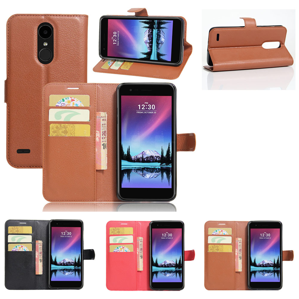 PU Leather Wallet Flip Case Slot Card Holder Case Kickstand Cover For LG K20 V/K20 Plus/K10 2017/LV5/Harmony/Grace LTE L59BL @