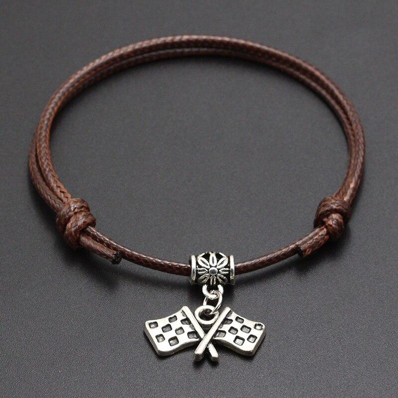 2020 New Target Destination Pendant Red Thread String Bracelet Lucky Black Coffee Handmade Rope Bracelet for Women Men Jewelry