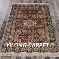 Yilong 4'x6' Handmade Persian Rugs Turkish Oriental Exquisite Silk Carpet (SL167A4x6)