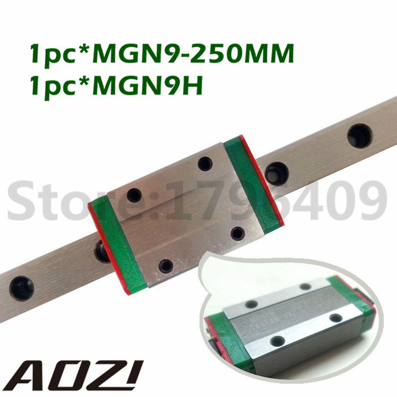 Miniature Linear Guide MGN9 250mm 9mm Linear Rail Slide Set: 1pcs MGN9-L250mm rail+1pcs MGN9H Carriage CNC Parts international version xiaomi redmi note 4 3gb 32gb smartphone gold
