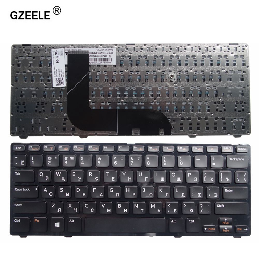 GZEELE laptop Keyboard for DELL Inspiron 14z 5423 Ins14ZR-1618 1316 Ins14ZD-3516 1618S 13Z-5323 Vostro 3360 P35G RU RUSSIAN NEW russian keyboard for dell a840 a860 vostro 1014 1015 1088 pp37l r811h 0r811h r818h 0r818h pp38l ru black v080925bs1