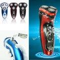 3D Homens Barbeador Elétrico Recarregável Barba Bigode 3 Cabeça Lavável Rotary Wet Dry 3 Cores homem barbeador elétrico clipper trimmer