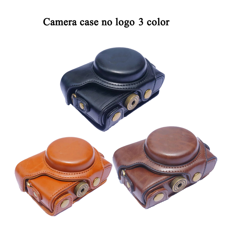 New PU Leather Camera Case For Sony RX100 RX100 II III RX100 IV V RX100 VI Camera Bag Cover With Strap