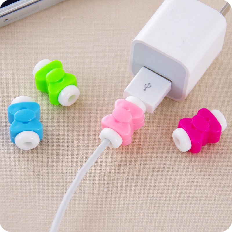 10Pcs Lovely Cable Protector Saver for iPhone USB Charger Wire Cable Protective Cover Earphone Line Data Cable Protection Sleeve