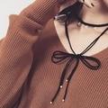 2016 Coreano Acessórios de Moda Três Zircon Multi-plataforma Tie Bowknot Colar Para Meninas Moda Kolye Boa Qualidade