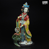 Shiwan doll master of fine ancient characters of a dream of Red Mansions twelve Jinling Chai Jia Yuanchun ceramic ornaments craf