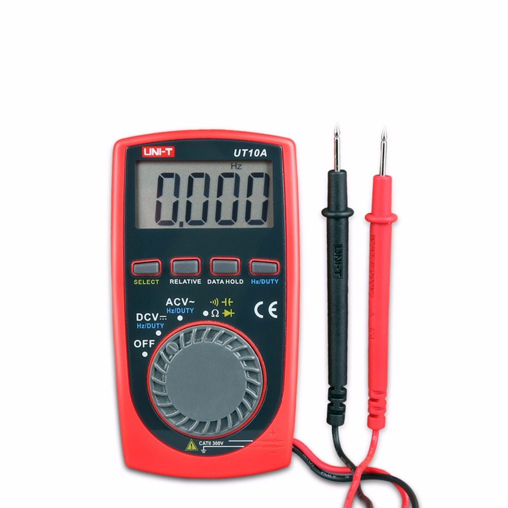Mini Digital Multimeter UNI-T UT10A Digital LCD Palm Size Auto Range Multimeter DC AC Pocket uni t ut151e digital multimeter atv 250cc laptops digital multimeter