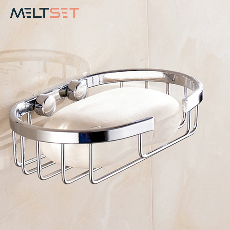 Stainless Steel Bathroom Soap Holder Dishes Shower Corner