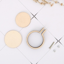 Round Wooden Frame Hand Cross Stitching Embroidery Hoop Jewelry Making Crafts ellipse wooden frame hand cross stitching embroidery hoop jewelry diy crafts