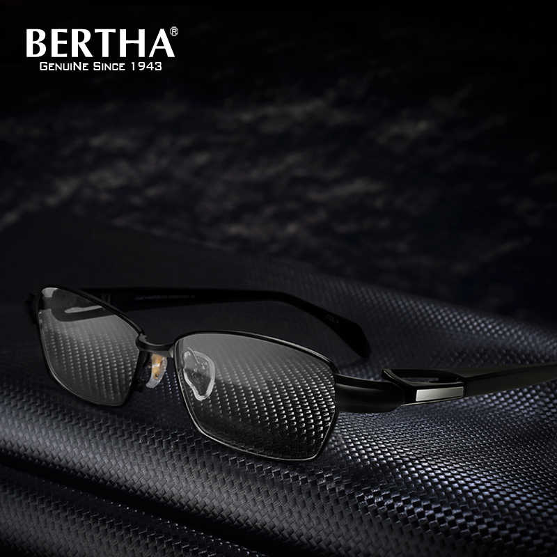 15166db874b4 BERTHA Titanium Men Eyeglasses Frames Business Glasses Computer Optical  Prescription Reading Clear male Spectacle 1181