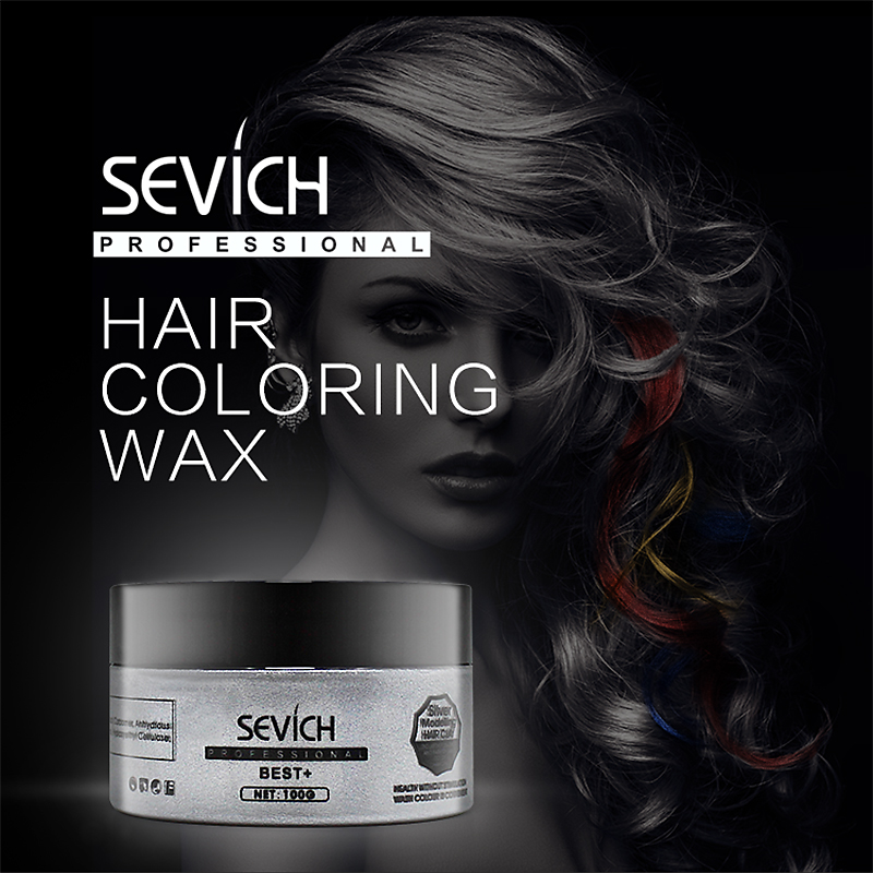 Sevich Silver Grey Temporary Salon Hair Color Wax Hair Color One-time Molding Paste Eight Colors Easy to Dye Hold Hairstyle 100ml unisex gray color temporary hair dying dye cream hair beauty salon tool