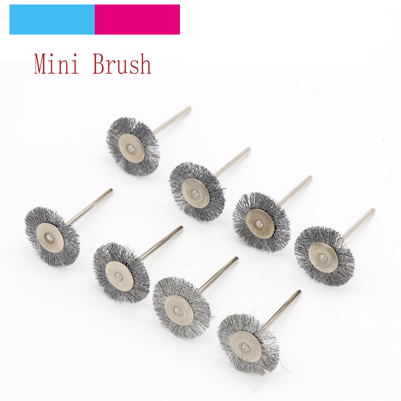 10pcs 2.35/3mm Shank Mini Stainless Steel Wire Wheel Brushes Grinder Rotary Polishing Drill Accessories For Dremel Brush Set