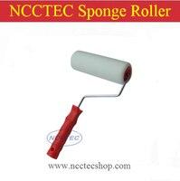 4 Round Head Sponge Roller Brush 130mm Small Sponge Roller With Handle