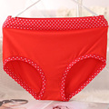 New Arrival Lingeries  Underwears Women Briefs Plus Size 4XL Mid Waist dot Bamboo Fiber women's Panties