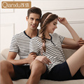 pajamas summer home short-sleeved shorts men and women thin models modal pajamas home clothing cotton suits can wear