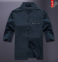 Oriental Element 100% Brand New Arrival Chinese Traditional Men's Cotton linen Shirts Tops M L XL XXL 3XL MS062608